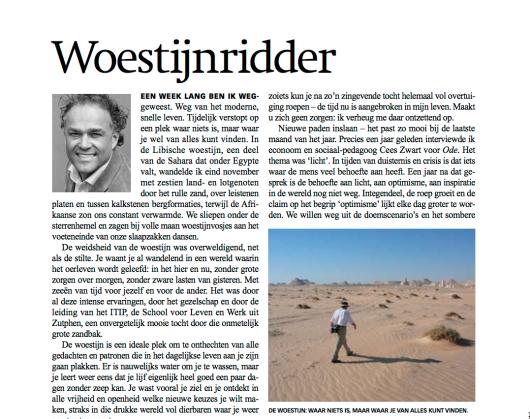 Ode Magazine neemt deel aan ITIP woestijnreis