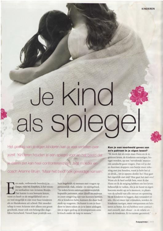 'Je kind als spiegel' - interview Arianne Bruijn (Happinez)