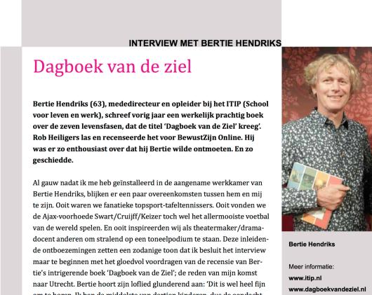 Dagboek van de Ziel - interview Bertie Hendriks (BewustZijn)