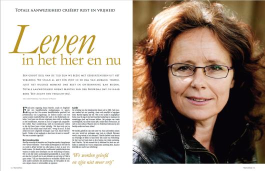 'Leven in het hier en nu' - (De Heerlijkheid Magazine)
