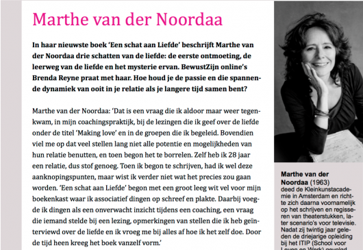 'Making Love' - Marthe van der Noordaa (BewustzijnOnline)