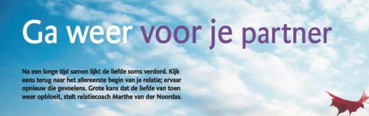 'Ga weer voor je partner' - (Brabants Dagblad)